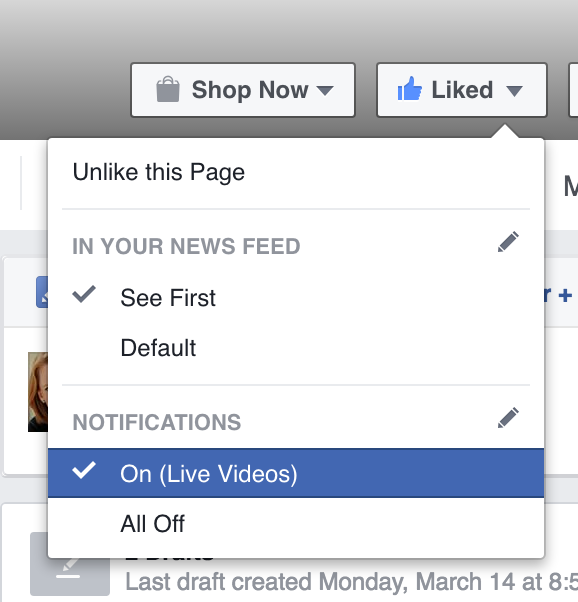 Facebook Live Turn on Notifications