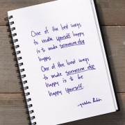 Secret of Adulthood: What's the Best Way to Make Yourself Happy? Someone Else Happy?