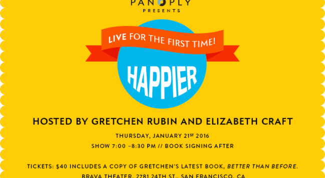My Sister Elizabeth and I Will Record an Episode of Our Podcast–Live! San Francisco, January 21.