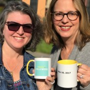 """Ta Da! The """"Happier in Hollywood"""" Podcast Is Launched. Green Juice! Mantras! And That Horrible Call from Their Agent."""