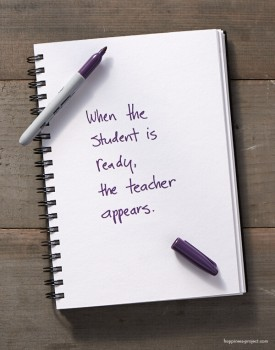 When the student is ready, the teacher appears.