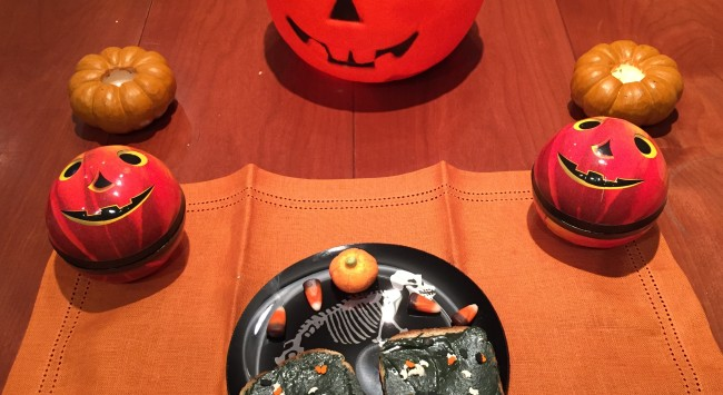 Setting the Table for a Halloween Holiday Breakfast–For One.