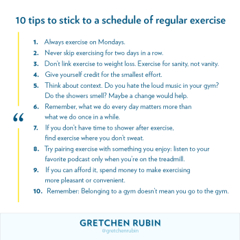10 Tips to Stick to a Schedule of Regular Exercise