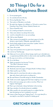 30 Things I Do for a Quick Happiness Boost