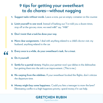 9 Tips for Getting Your Sweetheart to do Chores—Without Nagging