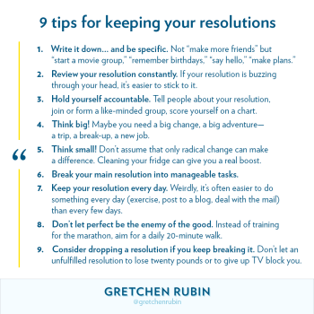 9 Tips for Keeping Your Resolutions